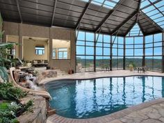 mansion with indoor pool