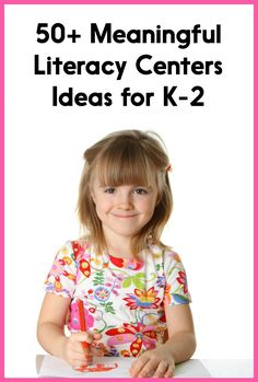 This post has some ideas for running centers AND over 50 literacy centers ideas for Kindergarten, first, or second grade! They are not paid products - just ideas that you can easily implement in your own classroom!