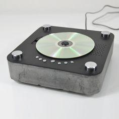 DIY Concrete CD Player from DIY recipe