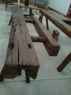 Antiguo banco de carpintero