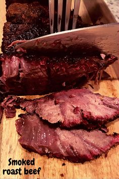 Smoked 2 slabs of beef roast this weekend. Smoked Roast Recipe, Smoked Sirloin Tip Roast, Grilled Roast Beef, Beef Sirloin Tip Roast, Smoked Chuck Roast, Smoked Beef Brisket, Roast Beef Recipes, Grilling Recipes, Gourmet