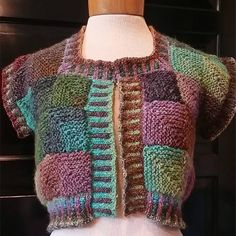 mitered square cardi pattern: $6.00 USD  http://www.ravelry.com/patterns/library/gemstone-rib-warmer