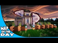 SWEET Futuristic Modern House Design - Minecraft PC Map w ...