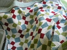 holiday ribbons quilt
