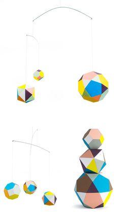 Polyhedra. Themis Trio Mobile by Clara von Zweigbergk.