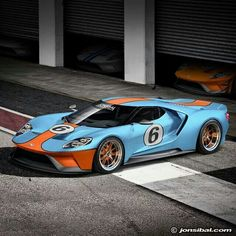 Ford GT race car rendering. .