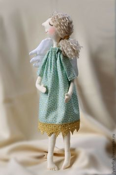 Куклы Тильды ручной работы: Ангел Аля и Валя. Handmade.