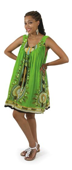Traditional African Print Sundress - This beautiful African style sundress is perfect for wearing to both casual and formal events. Celebrate your love of African culture and history with this beautiful African dress featuring bold African style patterns. If you love African culture and history, you will love showing it off in this comfortable and classy dress. #dress #dressup #african #africa #style #stylish #womensstyle #cocktaildress #dressy
