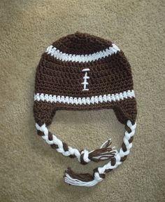 Crochet Football Hat  Newborn to Toddler sizing  by MRocheCrochet, $18.00