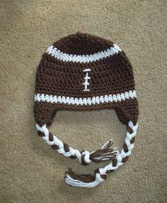 Crochet Football Hat  Newborn to Toddler sizing  by MRocheCrochet, $18.00