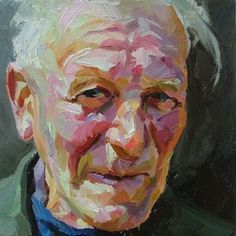 Image result for portrait painting with palette knife