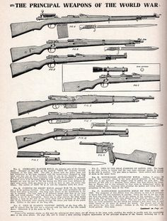 The Principal Weapons of the World War
