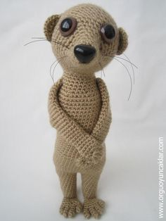 (4) Name: 'Crocheting : Amigurumi Meerkat Pattern