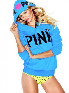 757891c5629 Victoria s Secret PINK Hoodie Blue Hoodie