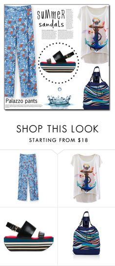 """""""Summer mood"""" by dorinela-hamamci ❤ liked on Polyvore featuring MANGO, Marni, Tory Sport, Anja, polyvorecontest, summersandals and polyvoreditorial"""