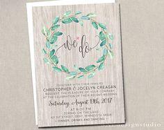 We Eloped We Do Wedding Invitation Rsvp We Do Elopement Vow