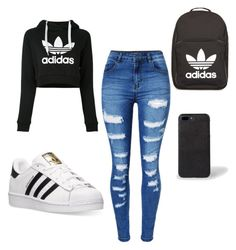 Adidas by donttouchmyhair on Polyvore featuring polyvore fashion style adidas WithChic clothing