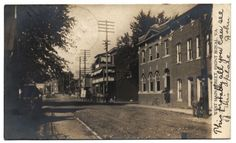 RPPC-FRONT ROYAL VA-W MAIN STREET-HOTEL-1905-VIRGINIA-WARREN COUNTY REAL PHOTO