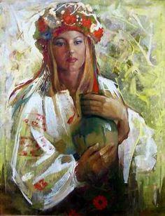 Ukrainians - People Living in Ukraine Oil Portrait, Digital Portrait, Surrealism Painting, Ukrainian Art, Beauty Art, New Artists, Painting Inspiration, Female Art, Street Art