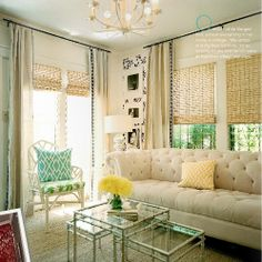 Beachy Living Room by It's Great To Be Home, via Flickr