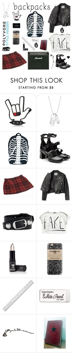 """""""School of Rock"""" by deepwinter ❤ liked on Polyvore featuring Dsquared2, McQ by Alexander McQueen, Comeco, INDIE HAIR, Acne Studios, SOA, Balenciaga, Manic Panic NYC, Casetify and Paper Mate"""