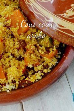 Cous cous di verdure ricetta araba. Buongiorno oggi è giornatacous cous, ho pensato di farlo solo di verdure e prima o poi vi spieghero' anche come farlo a casa senza comprare quello precotto. Prima pero' impariamo a cuocerlo come si deve, il cous cous deve essere cotto a vapore a non boll World Recipes, Veg Recipes, Wine Recipes, Italian Recipes, Cooking Recipes, Healthy Recipes, Recipies, Couscous Recipes, Romanian Food