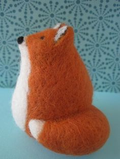 This little fox was just added to my shop. He's made of several different colors of wool all layered and felted together. Needle Felted Animals, Felt Animals, Needle Felting, Fox Crafts, Cute Crafts, Felt Fox, Wool Felt, Felt Decorations, Cute Fox