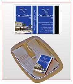 """Cajas de cerillas modelo """"Café"""" para el restaurante Coral Playa en La Antilla (Huelva)."""