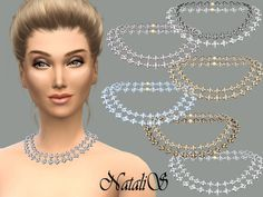 The Sims Resource: Gentle crystals necklace by NataliS • Sims 4 Downloads