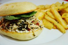 Slow Cooker Italian Pulled Chicken Sandwiches with Goat Cheese – 8 Points   - LaaLoosh