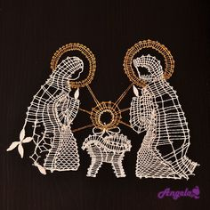 podvinek - Cerca con Google Christmas Nativity, Christmas Themes, Christmas Holidays, Christmas Crafts, Bobbin Lace Patterns, Crochet Patterns, Hobbies And Crafts, Diy And Crafts, Wire Ornaments