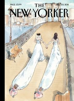 The New Yorker: July Illustration: New Yorker covers chronicle changin. - The New Yorker The New Yorker, New Yorker Covers, Seasons Posters, Two Brides, Magazine Art, Magazine Covers, Thing 1, Photo Essay, Wedding Season
