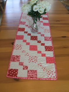 Making this with alternating browns and blues, instead of pinks, to match my living room.