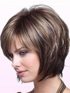 Frisuren LUV---concave bob, Why Pensacola Is Great For People On Manual Wheelchairs Short Hair With Layers, Short Hair Cuts For Women, Layered Hair, Haircuts For Fine Hair, Short Bob Haircuts, Straight Hairstyles, Medium Hair Styles, Short Hair Styles, Frosted Hair