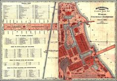 guide map - 1892 World Columbian Exposition
