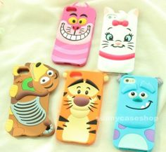 Cute Disney Cartoon Animal Soft Silicone Case cover for Apple iphone5s 5g 4S 4G. I need these in my life!!!!!!
