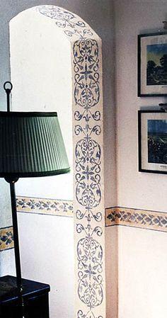 Don't forget the details: stencils on interior door frame