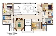 Second Floor Kingsley Model. If I ever want 2 floors I think I want something like this.