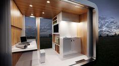 Transportabler Wohncontainer - Capsa Mobile - Nachrendering
