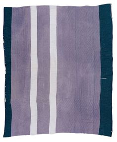 """Gee's Bend quilts. yes! // Loretta Pettway, born 1942. """"Lazy Gal"""" -- """"Bars,"""" ca. 1965, denim and cotton"""