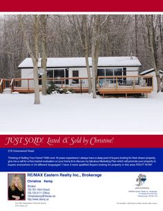 Listed & Sold by Christine - I have 3 more buyers wanting this area. Thinking of selling,  call me!