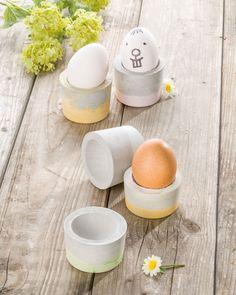 """Beton-Eierbecher (Idee mit Anleitung – Klick auf """"Besuchen""""!) -"""