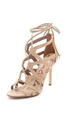 Sam Edelman Almira Lace Up Sandals @Sam McHardy McHardy Edelman @Pack It Up