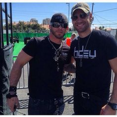 Brantley Gilbert & Chase Rice - whole lotta sexy in this picture!