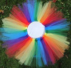 Rainbow Tutu  12-24 months 2T 3T 4T. $20.00, via Etsy.