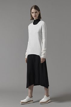 Amis Cashmere Wool Pullover in White Cashmere Wool, Winter White, Wool Blend, Women Wear, Normcore, Pullover, Luxury, Coat, Jackets