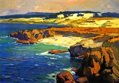 The Athenaeum - Sand Dunes and Rocky Coast (Franz Bischoff - No dates listed)