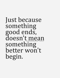 Something good ends.
