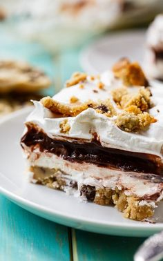 Chocolate Chip Cookie Delight - 4 delicious layers including a soft chocolate chip cookie crust.