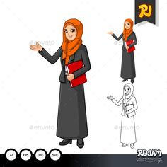 Buy Muslim Businesswoman with Welcoming Hands by ridjam on GraphicRiver. High quality cartoon vector illustration, files can be used for all kinds of needs. Arabic Characters, Iconic Characters, Disney Characters, Fictional Characters, Welcome, Business Women, Muslim, Hands, Graphic Design